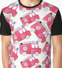 Watercolor fire engine toy car  Graphic T-Shirt