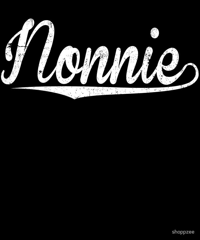 Nonnie Happy Birthday Grandma Birthday Gifts Grandma Nonnie Shirt by shoppzee