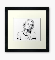 Simply GA black and white by Mimie Framed Print