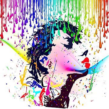 REBEL GIRL IN THE RAIN by johnnyssandart