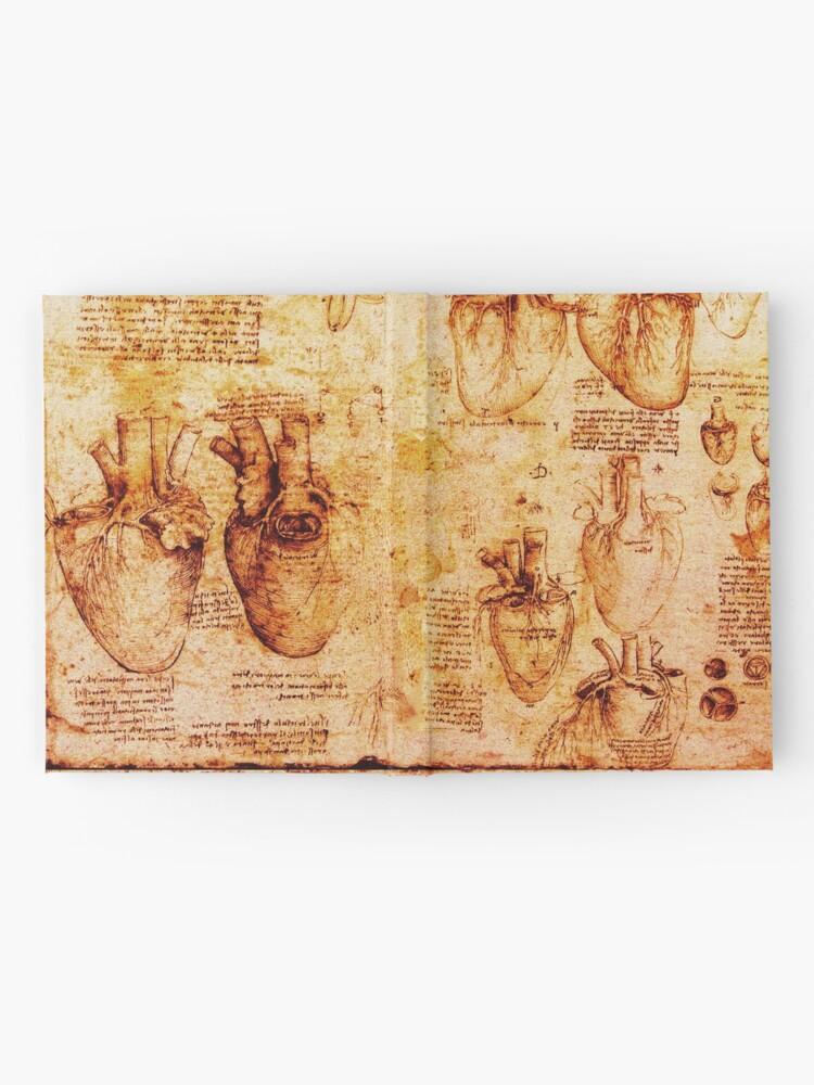 Alternative Ansicht von Herz und seine Blutgefäße, Leonardo Da Vinci Anatomy Drawings, Brown Notizbuch