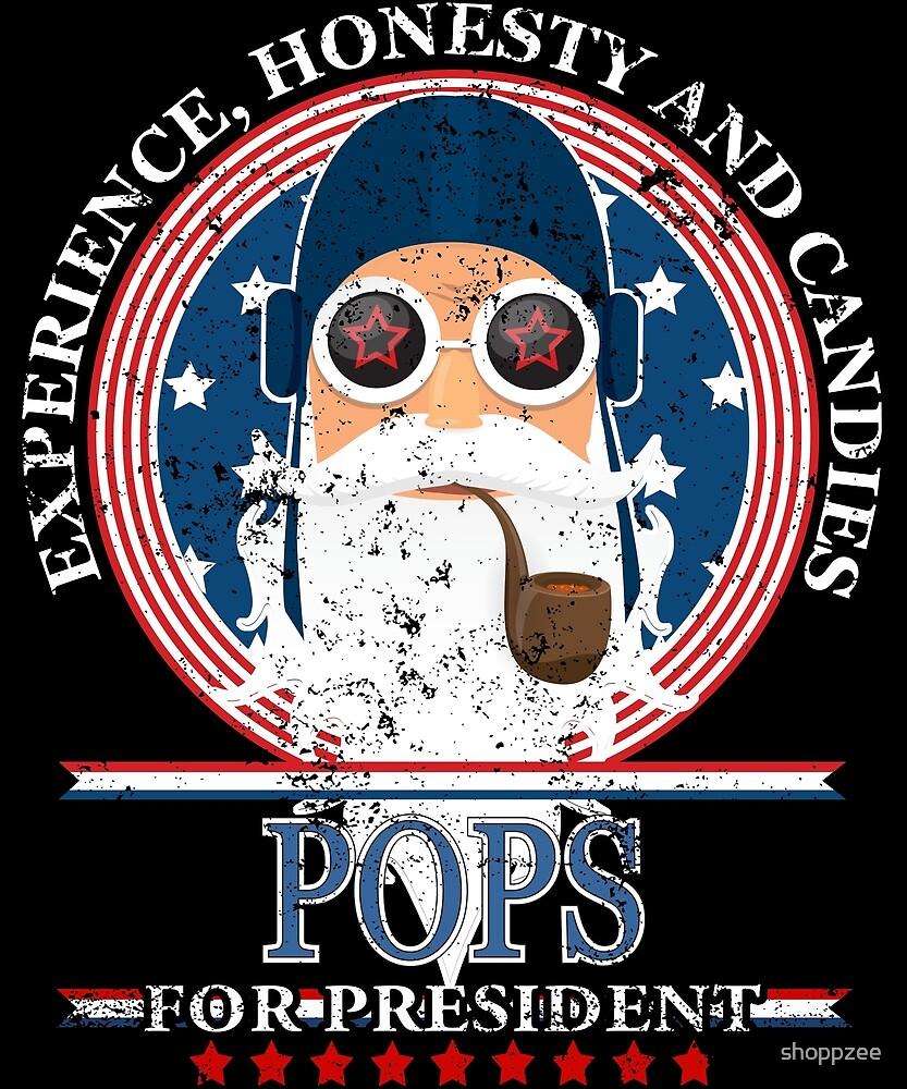 Pops For President Grandpa Gift Grandparents Shirts by shoppzee