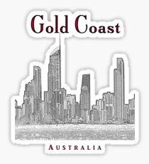 Gold Coast, Queensland, Australia – Skyline - Seaside Resort Sticker