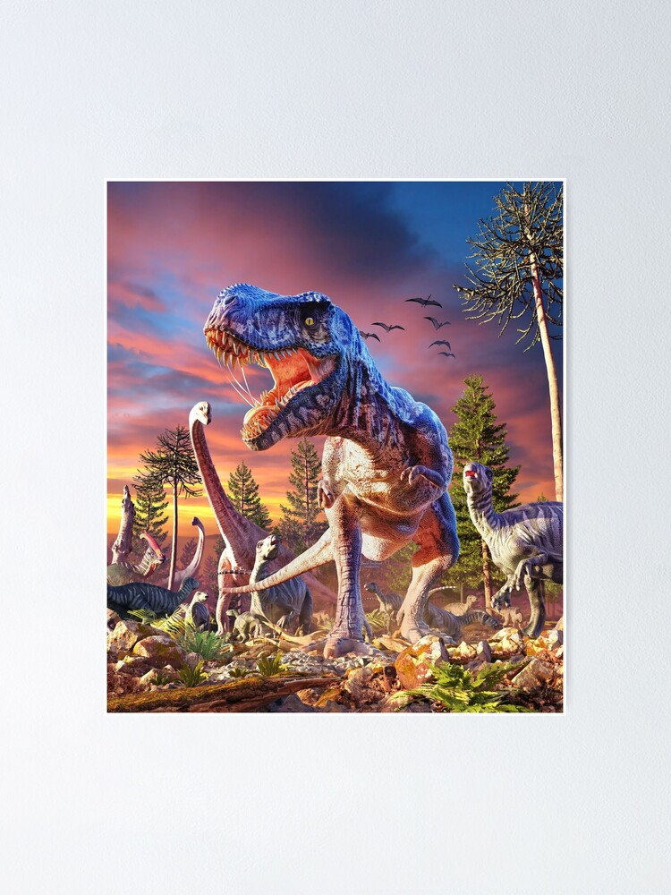 Alternate view of T-Rex_Attack Poster