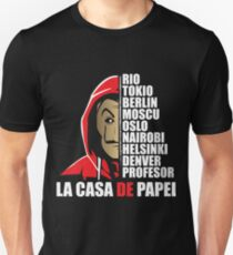ACTORS OF THE PAPEL CASA - ACTOR LACASA OF PAPEL - The TV series BALCK Unisex T-Shirt