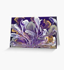 """Bouquet of shimmery purple waves"" by Artsbyangelova  Greeting Card"