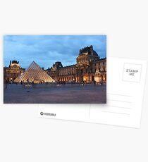 Louvre at dusk Postkarten