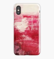 red abstract iPhone Case