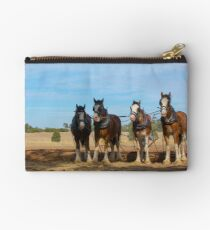 Stunning Draught Horses... Studio Pouch