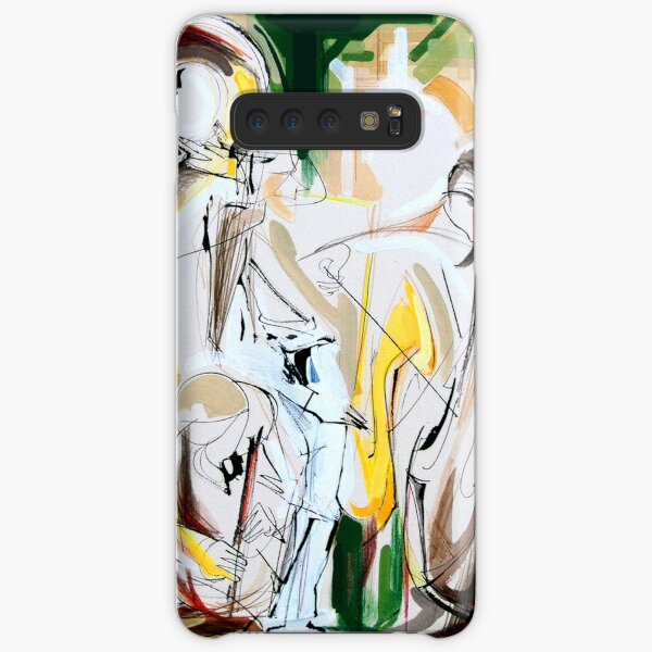 Expressive Musicians Playing Cello Flute Accordion Saxophone Drawing Samsung Galaxy Snap Case