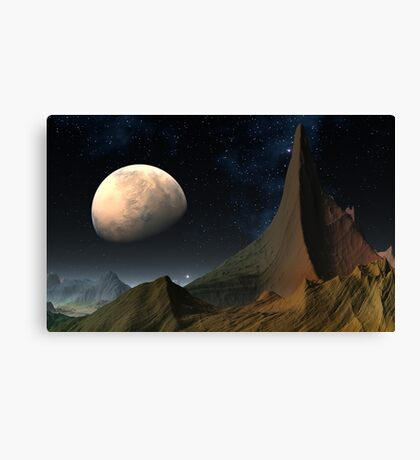 Mysterious Mars Canvas Print