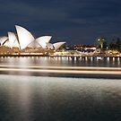 """ Streaking past .. The Sydney Opera House "" by Darren Gray"