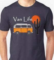Van Life Camper Van Desert Scene Unisex T-Shirt