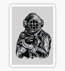 Diver-Soldier Sticker