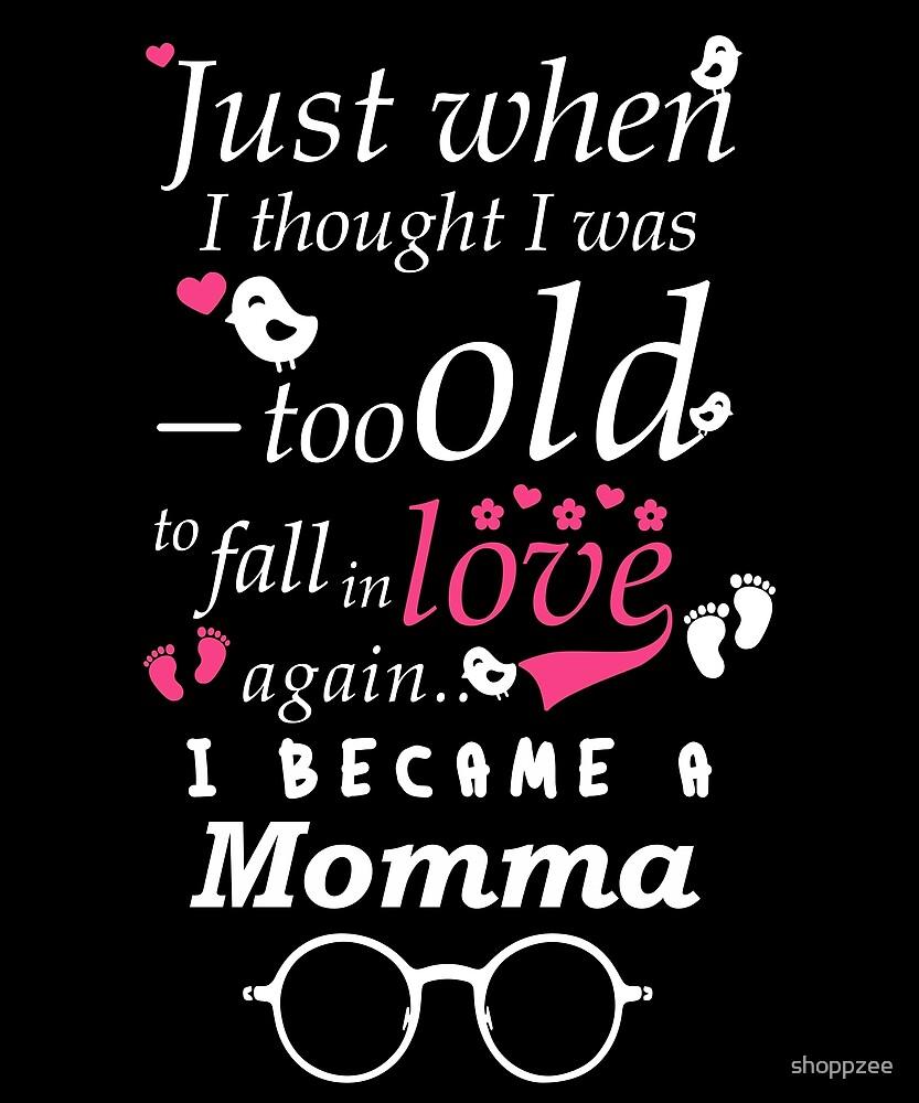 I Became Momma Grandma Grandmother by shoppzee
