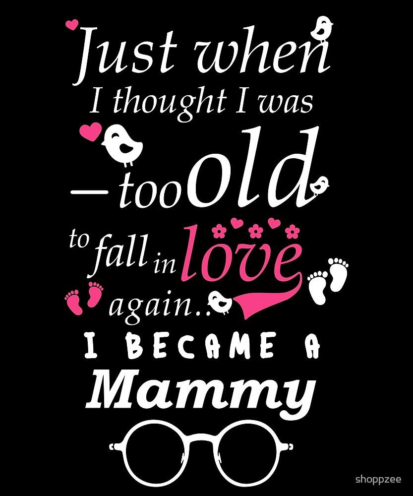 I Became Mammy Grandma Grandmother by shoppzee