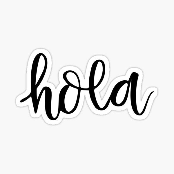 Hola diciendo / cita - Hola en español Pegatina