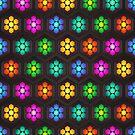 Neon Daisies  by David Dehner