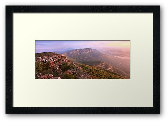 Redmans Bluff from Mt William, Grampians, Australia by Michael Boniwell
