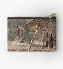 Giraffe Drinking Spray Studio Pouch