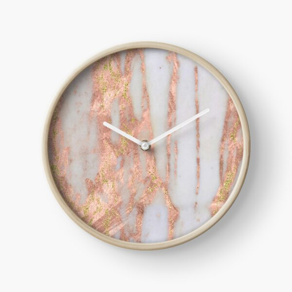 Aprillia - rose gold with golden flecks Clock