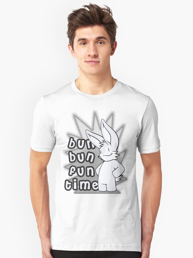 Bun Bun Fun Time! Monochrome Unisex T-Shirt Front