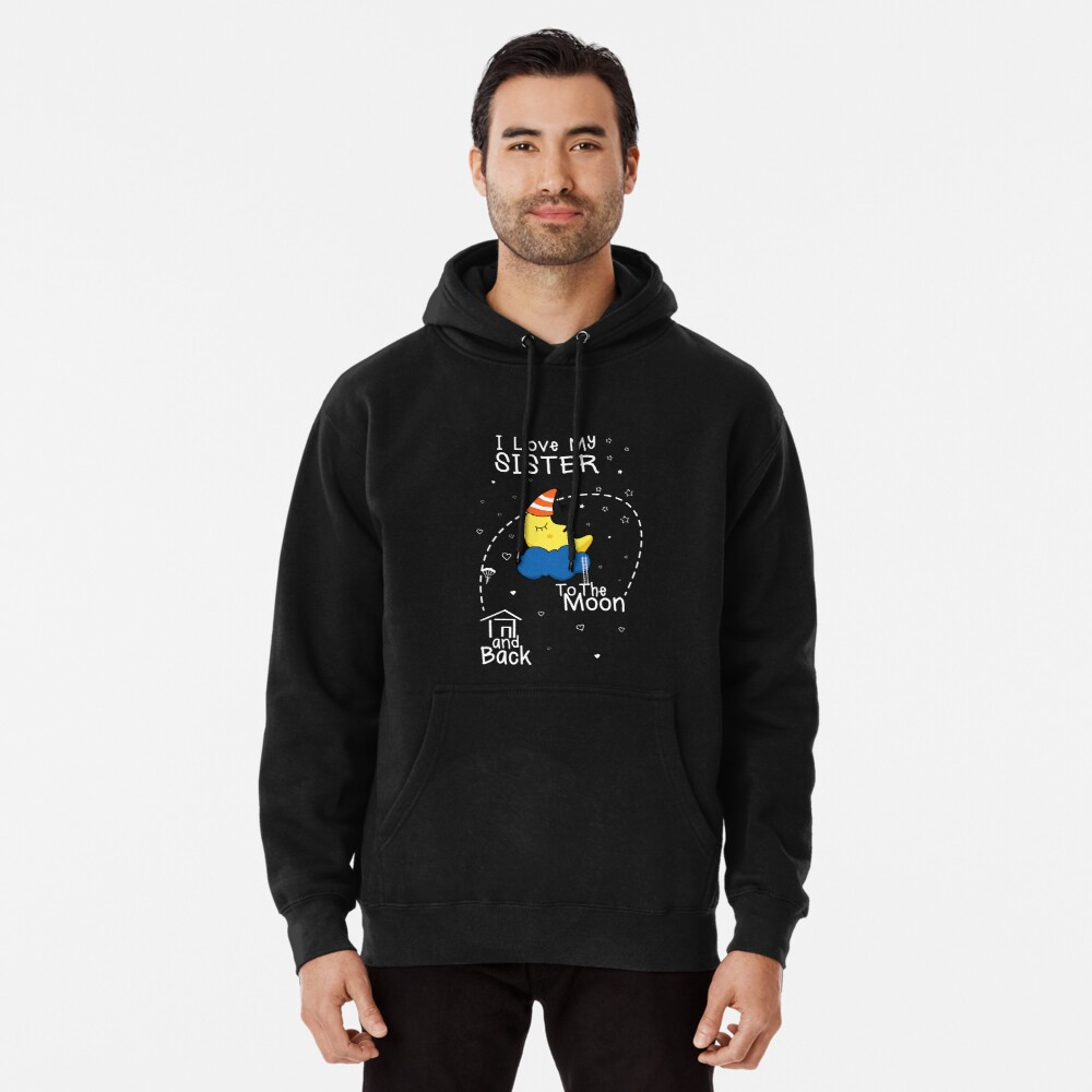 Sister Love To The Moon Pullover Hoodie Front