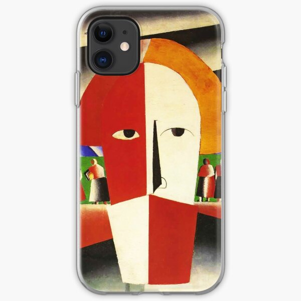 HD -  Head of a Peasant,  by Kazimir Severinovich Malevich 1929 High Definition iPhone Soft Case
