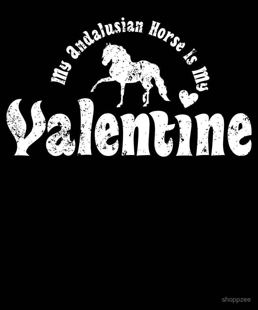 My Anti Valentine Andalusian Horse by shoppzee