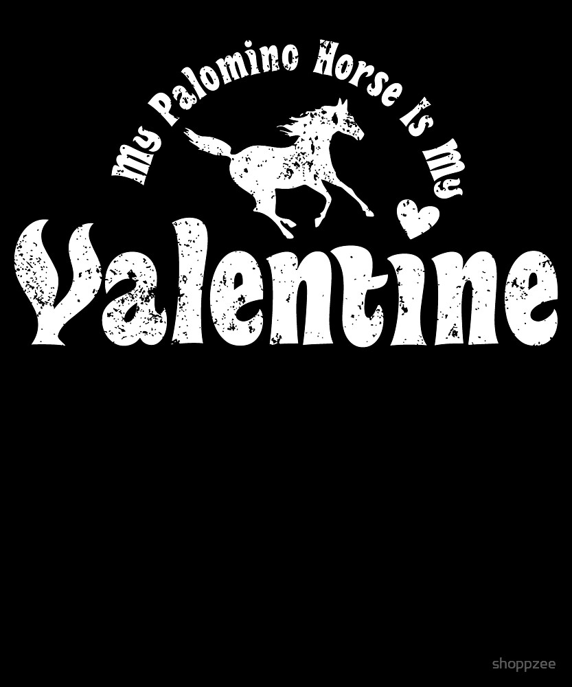 My Anti Valentine Palomino Horse by shoppzee