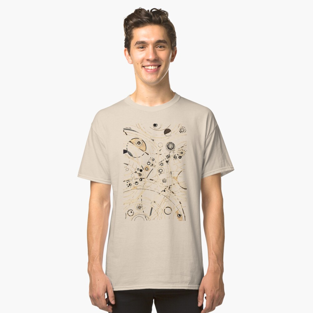 Diffracting Around - ink drawing Classic T-Shirt