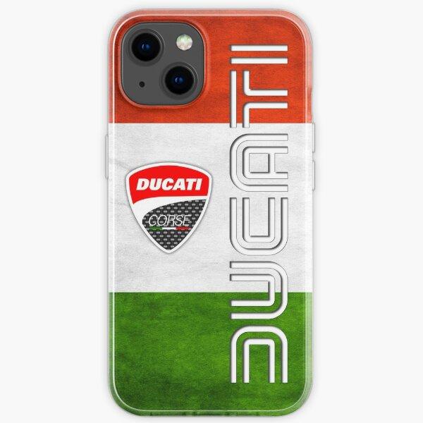 ducati, bandera de italia Funda blanda para iPhone