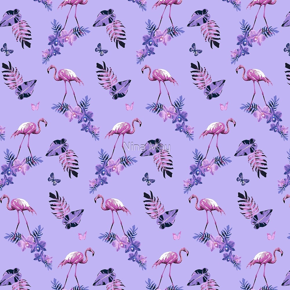 Lavender Flamingo Toille by Nina May