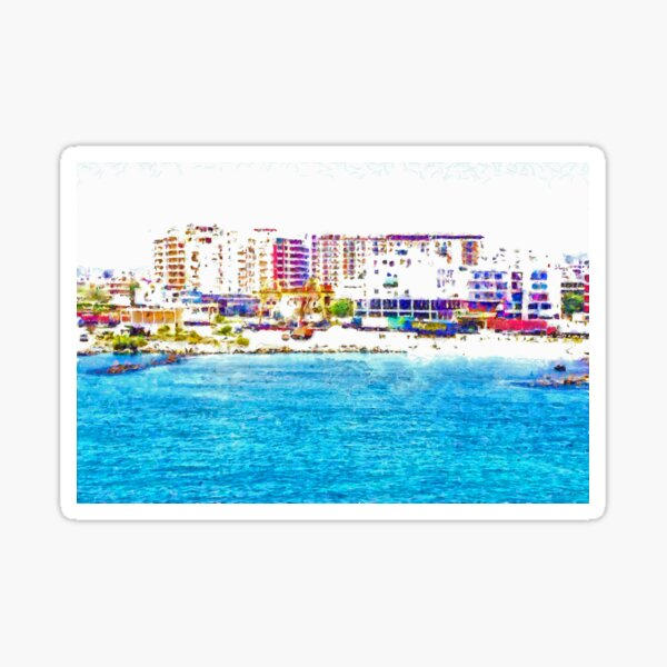 Vlore from the sea Sticker