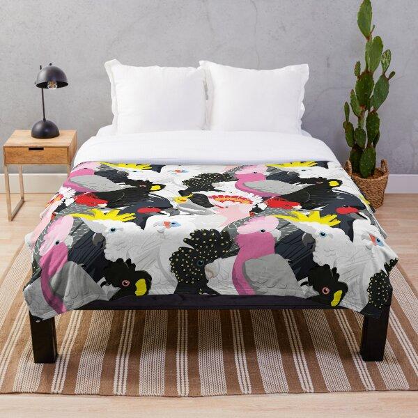 Cockatoo Fest Throw Blanket