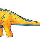 Diplodocus by Rowena Aitken