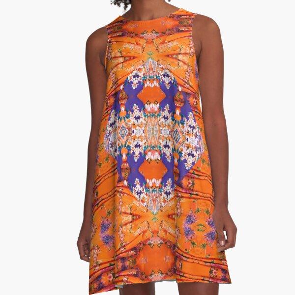 Pattern, tracery, weave, template, Sample, specimen, model, example A-Line Dress