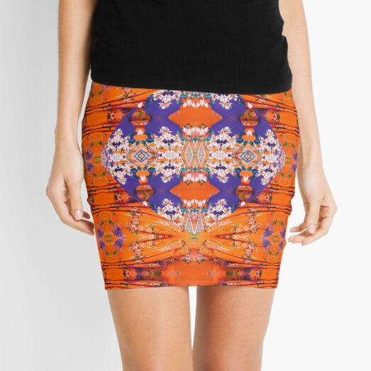 Pattern, tracery, weave, template, Sample, specimen, model, example Mini Skirt