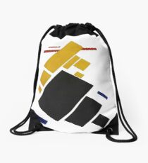 HD -  Suprematist composition. Airplane flying,  by Kazimir Severinovich Malevich 1915 High Definition Drawstring Bag