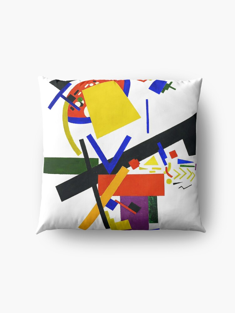 Alternate view of HD -  Suprematism , by Kazimir Severinovich Malevich 1913 High Definition Floor Pillow