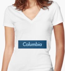 Columbia University Women's Fitted V-Neck T-Shirt