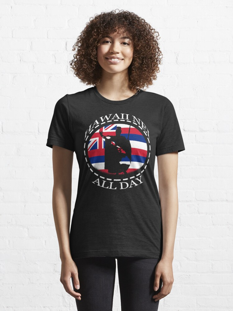 Alternate view of The Rising Sun King Kamehameha by Hawaii Nei All Day Essential T-Shirt