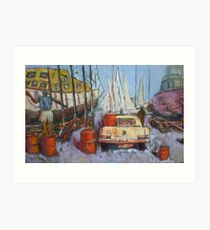 Flying Squadron Yacht Club Art Print