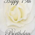White Flower Happy 19th Birthday  by martinspixs