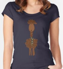 Llama Llama- Navy/Gold Women's Fitted Scoop T-Shirt