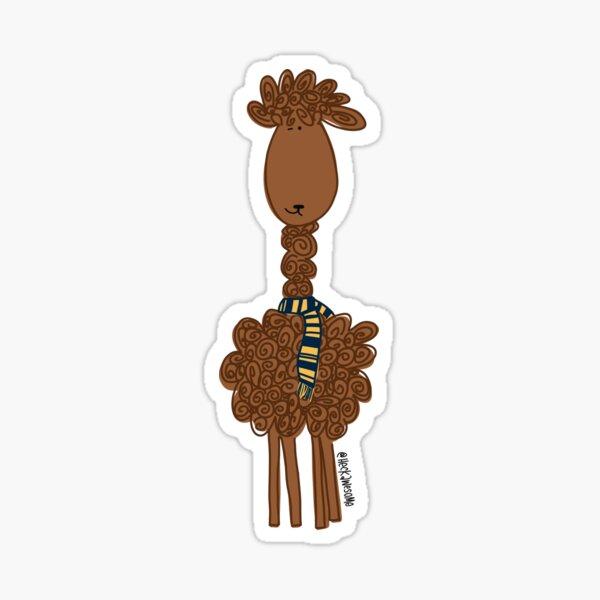 Llama Llama- Navy/Gold Sticker