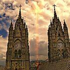 Virgen de El Panecillo and Basilica del Voto Nacional II by Al Bourassa