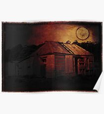 Bushfire Moon on Bruny Island Poster