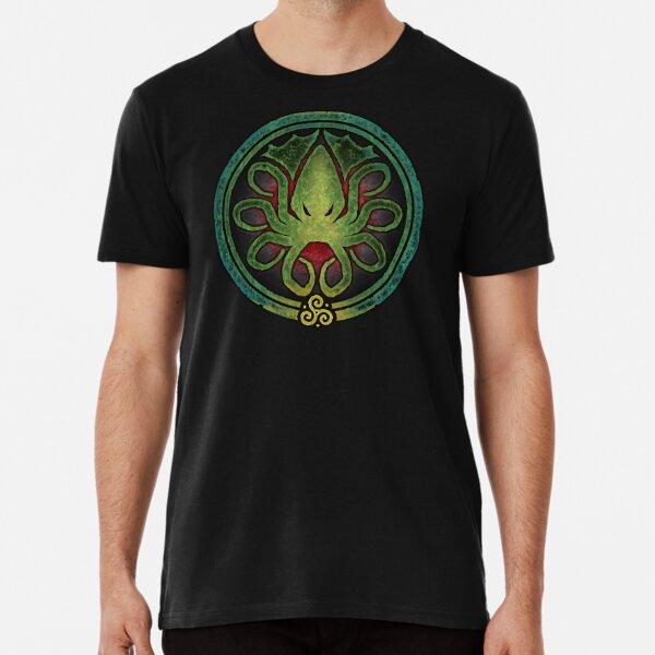 HAIL CTHULHU! - Full Cosmic Horror Color Premium T-Shirt