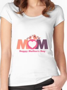 MoM Mother's Day Women's Fitted Scoop T-Shirt